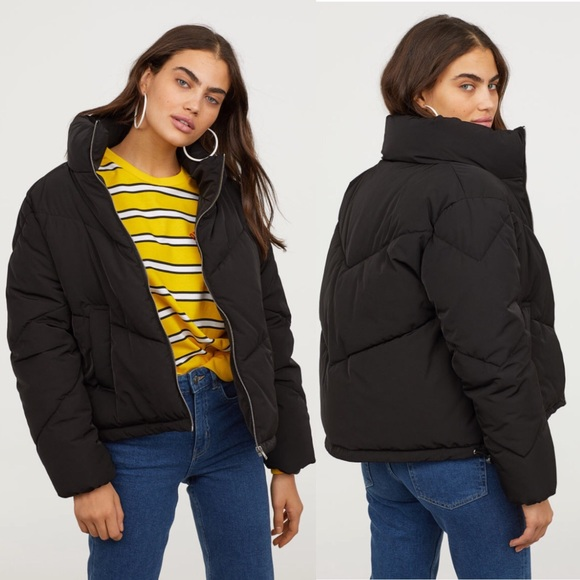 meticulous dyeing processes best agreatvarietyofmodels H&M Tiffany Young Black Padded/Puffer Jacket